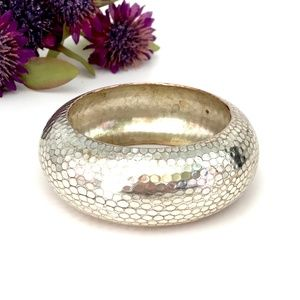 Silver tone Bangle Bracelet